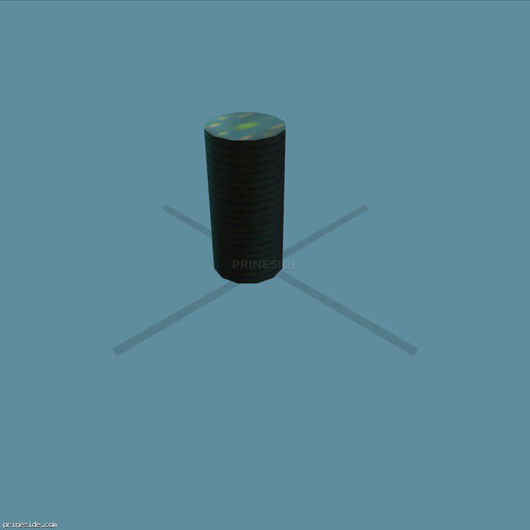 A stack of blue chips (chip_stack13) [1930] on the dark background