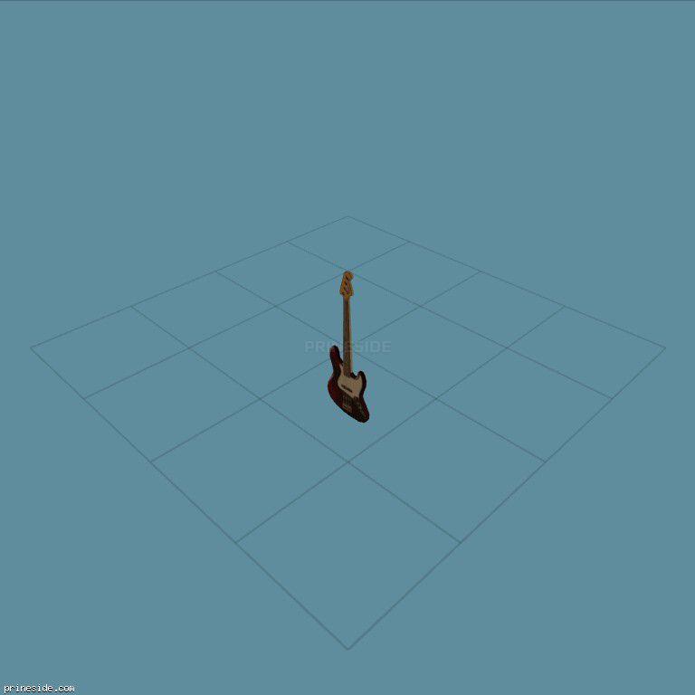 Dark electric guitar (bassguitar01) [19317] on the dark background