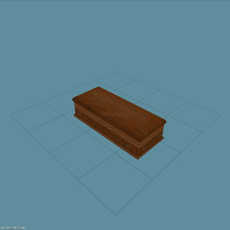 Wooden coffin (coffin01) [19339] on the dark background