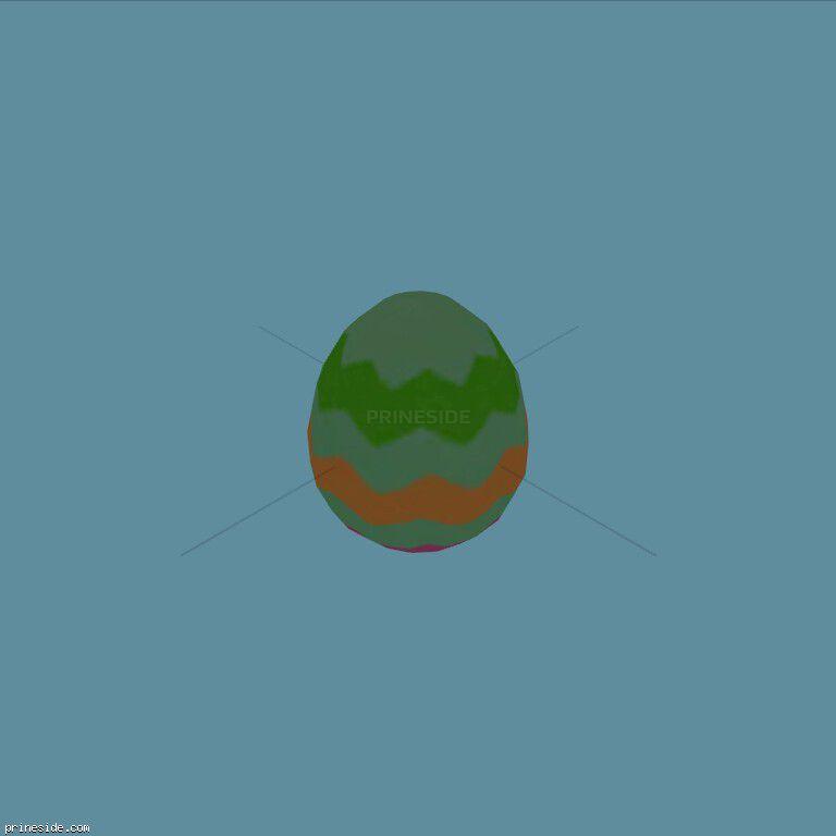 Easter egg green (easter_egg03) [19343] on the dark background