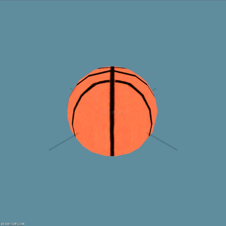 Orange basketball ball (baskt_ball_hi) [1946] on the dark background