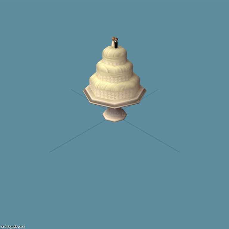 Большой свадебный торт (WeddingCake1) [19525] на темном фоне