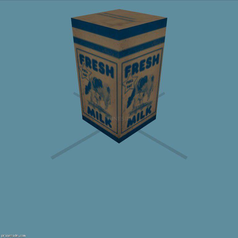 The packet of milk (MilkCarton1) [19569] on the dark background
