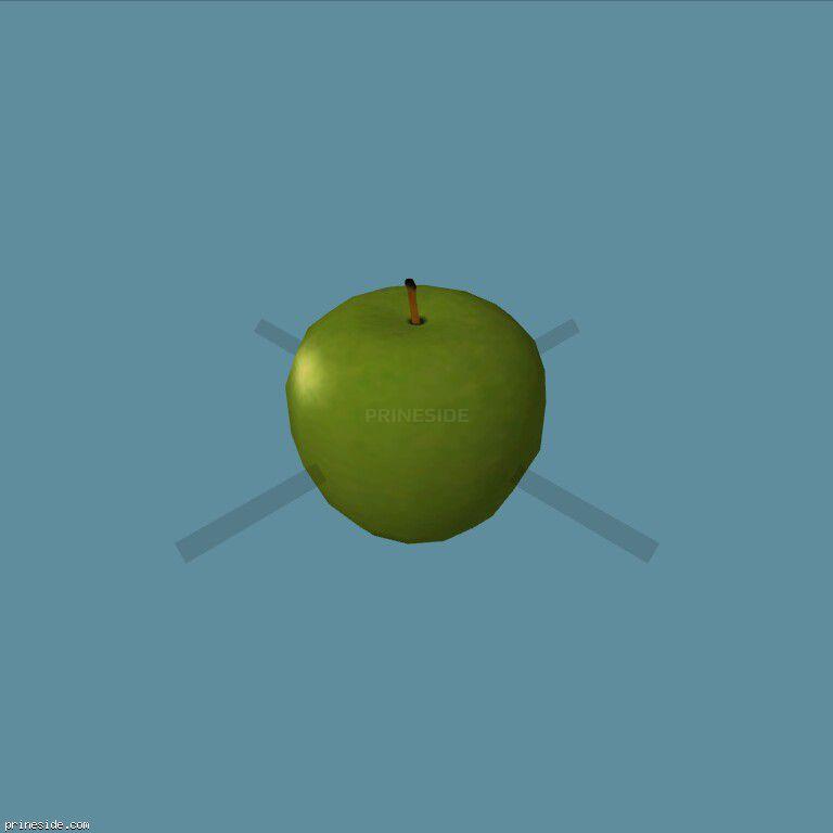 Зеленое яблоко (Apple2) [19576] на темном фоне