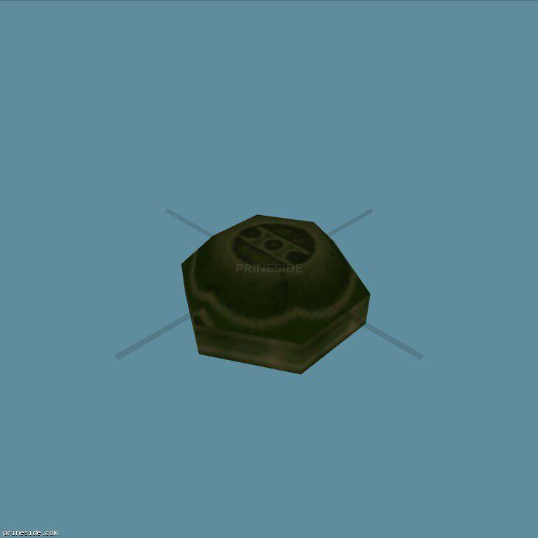 Green anti-personnel mine (Landmine1) [19602] on the dark background