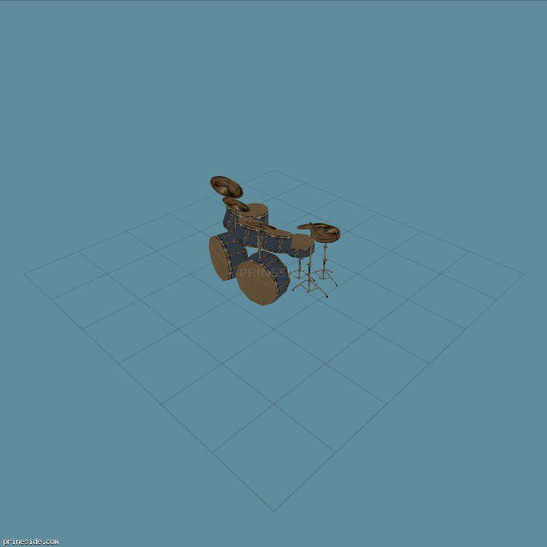 Drum set blue (DrumKit1) [19609] on the dark background