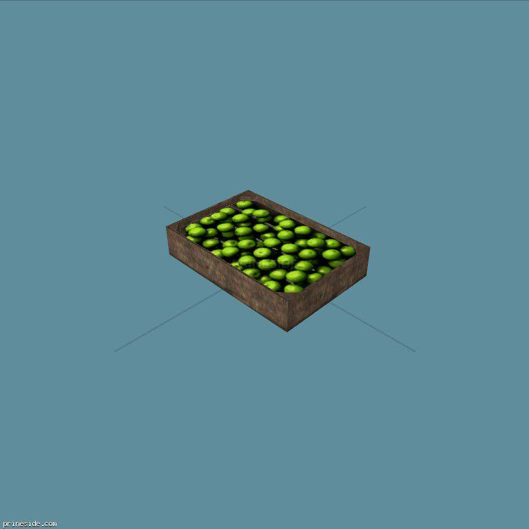 GreenApplesCrate1 [19637] on the dark background