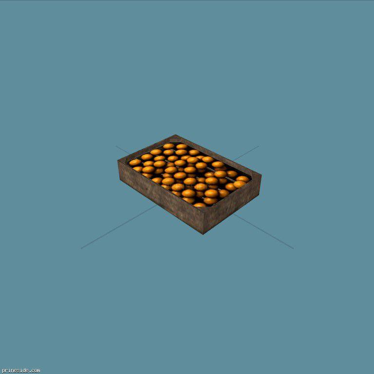 A box of oranges (OrangesCrate1) [19638] on the dark background