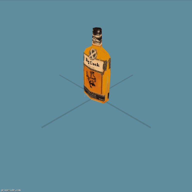 Bottle with alcohol (AlcoholBottle4) [19823] on the dark background