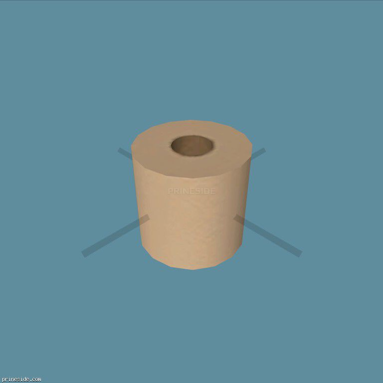 A roll of toilet paper (ToiletPaperRoll1) [19873] on the dark background