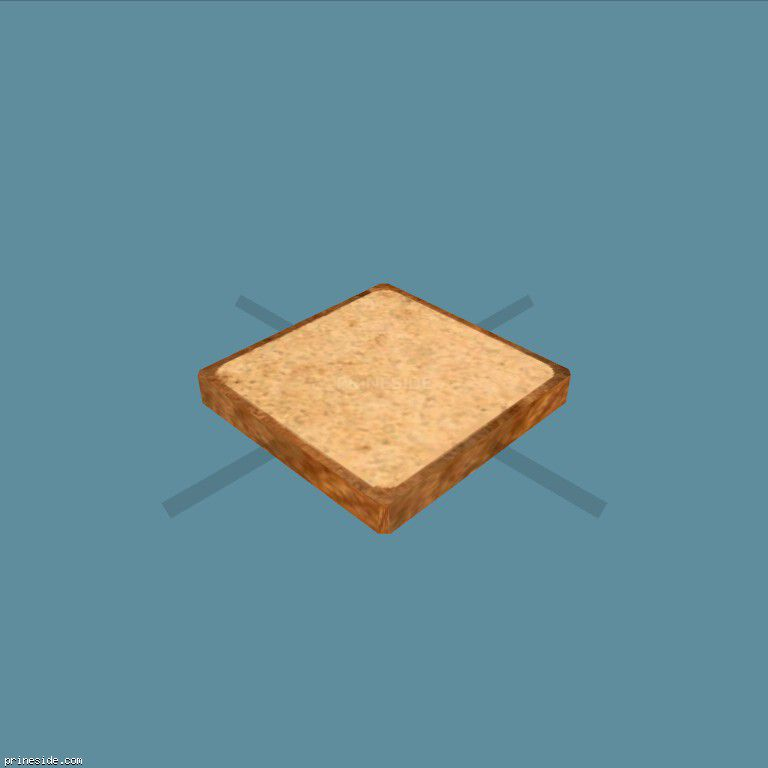 Square slice of bread (BreadSlice1) [19883] on the dark background
