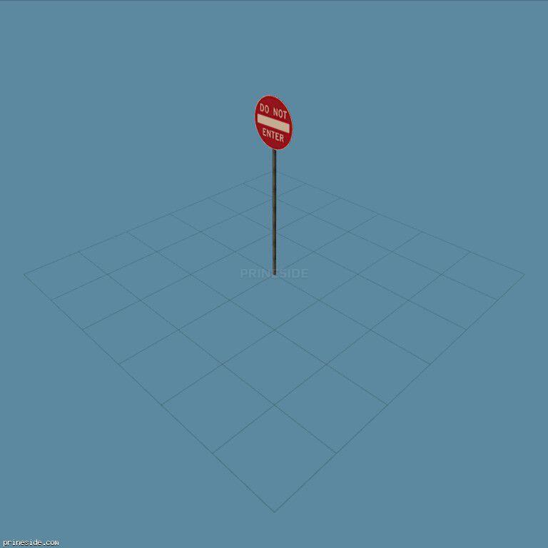 Дорожный знак запрещающий проезд (SAMPRoadSign20) [19967] на темном фоне