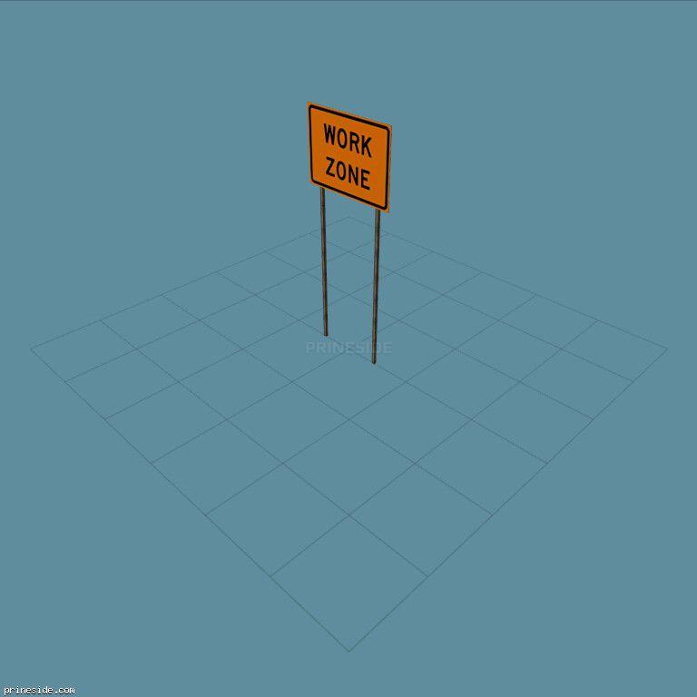 Дорожный знак ремонтных работ  (SAMPRoadSign28) [19975] на темном фоне