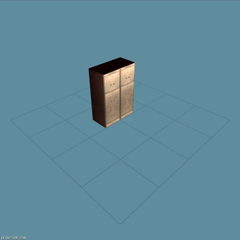 Офисный шкаф с ящиками для документов (filing_cab_nu01) [2007] на темном фоне