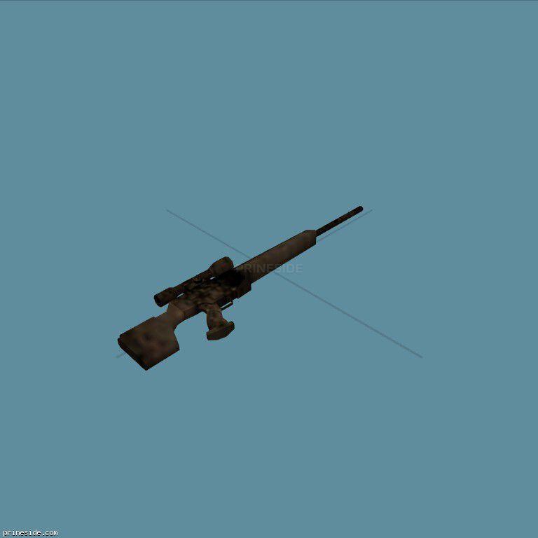 Испорченная ржавая снайперская винтовка (CJ_psg1) [2036] на темном фоне