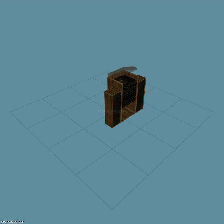 Виниловый проигрыватель (MED_HI_FI_1) [2099] на темном фоне