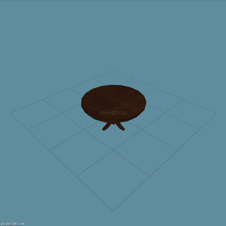 Round wooden table (LOW_DINNING_5) [2111] on the dark background
