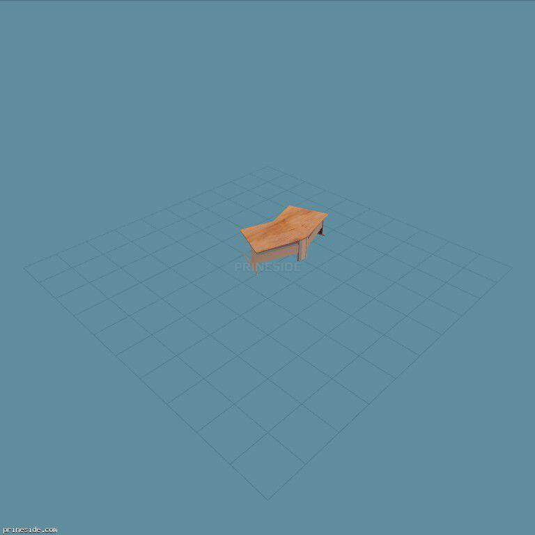 Curved office Desk (MED_OFFICE6_DESK_2) [2184] on the dark background