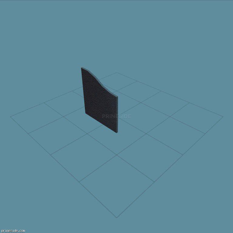 Перегорородка синего цвета (partition2) [2187] на темном фоне