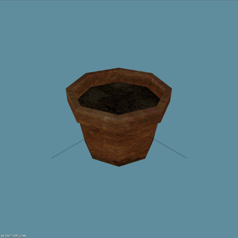 Pot for plants (Plant_Pot_1) [2203] on the dark background
