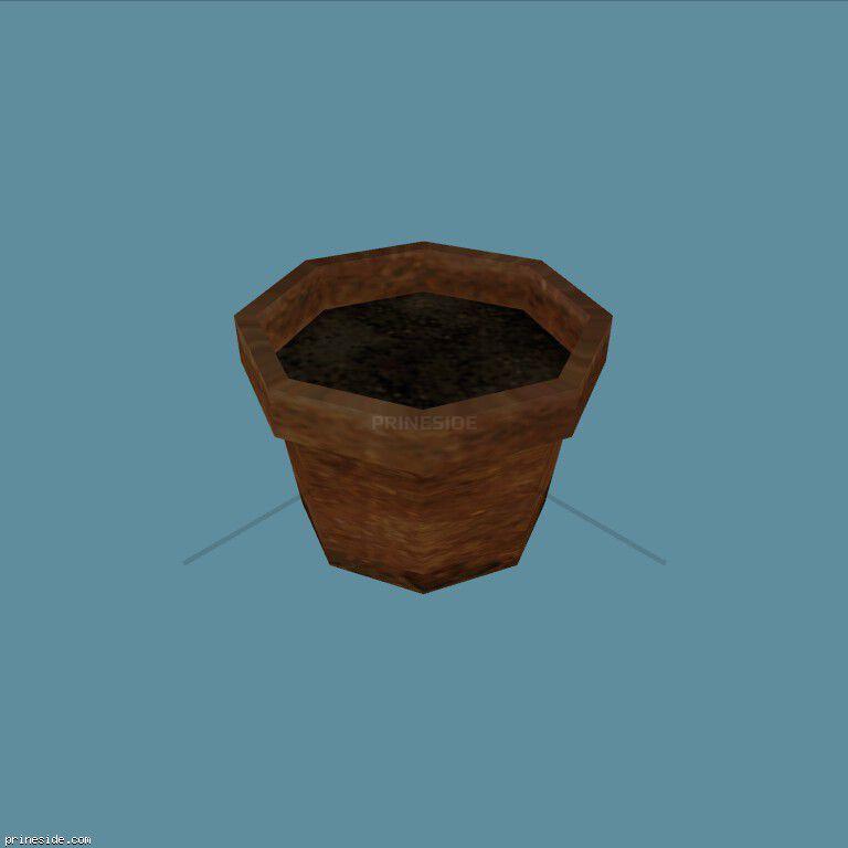 Горшок для растений (Plant_Pot_1) [2203] на темном фоне