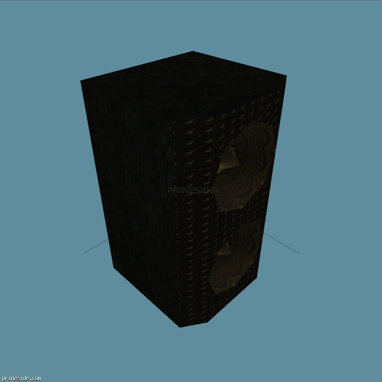 Black speaker with two speakers (MED_SPEAKER_4) [2232