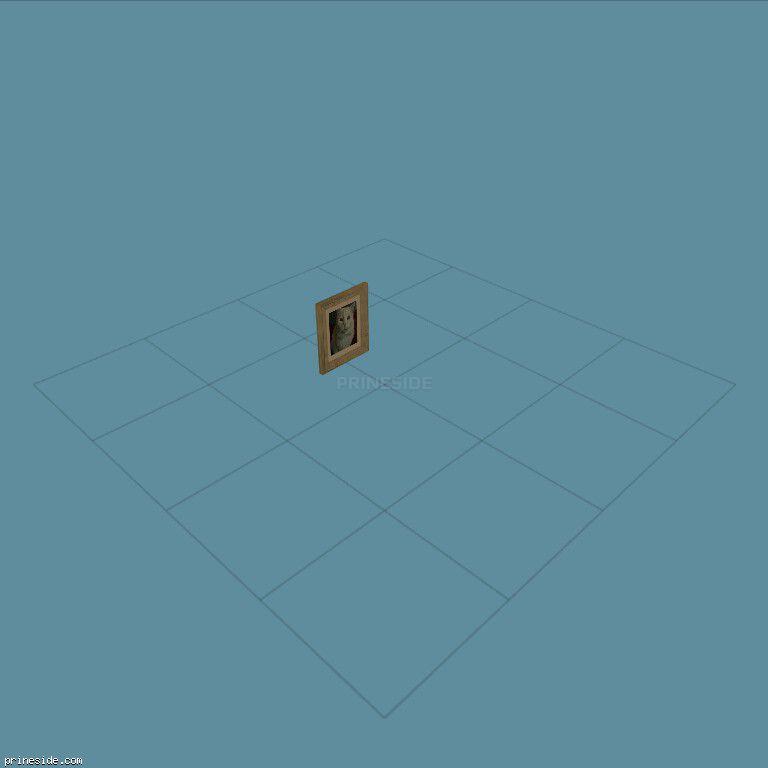 Картина в рамке с изображением кошки (Frame_Fab_2) [2277] на темном фоне