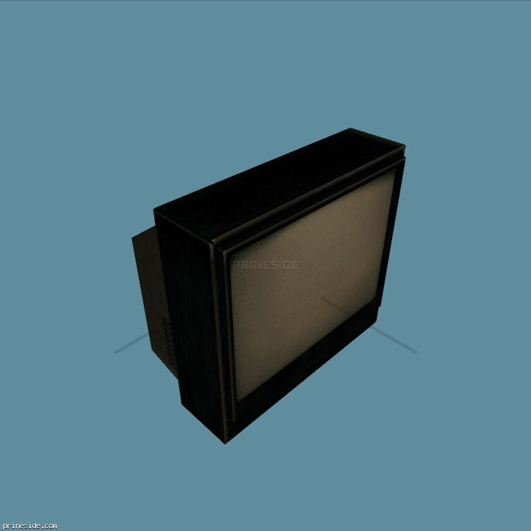 Black TV (CJ_TELE_1) [2318] on the dark background
