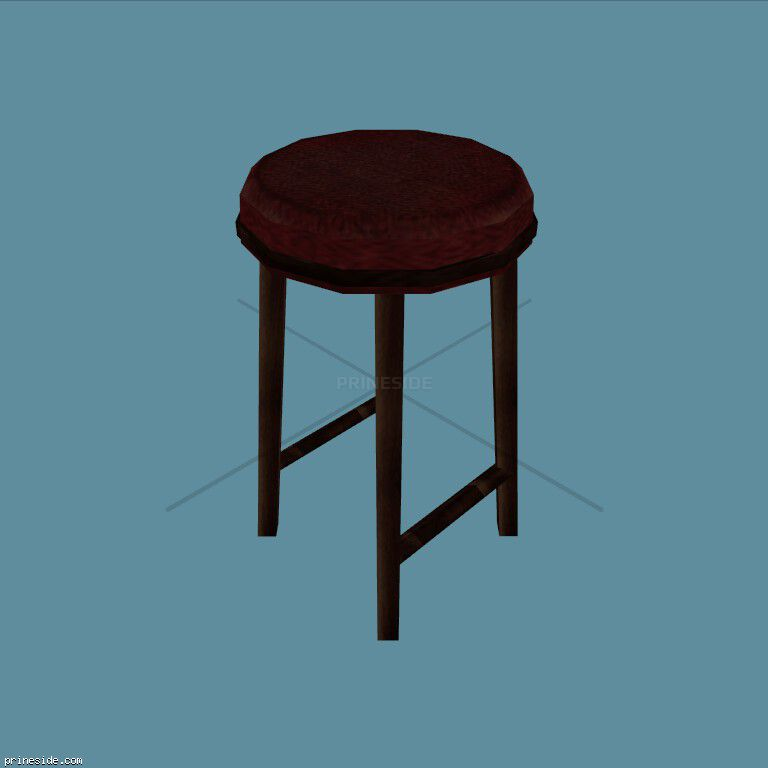 High, upholstered chair without back (CJ_BARSTOOL_2) [2350] on the dark background