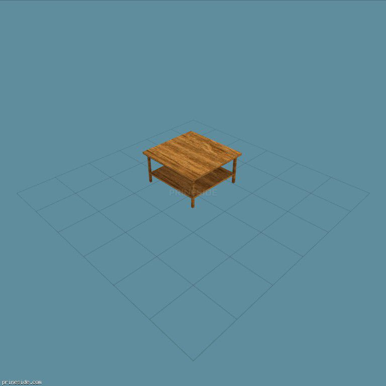 Wooden coffee table from the store (Shop_set_1_Table) [2370] on the dark background
