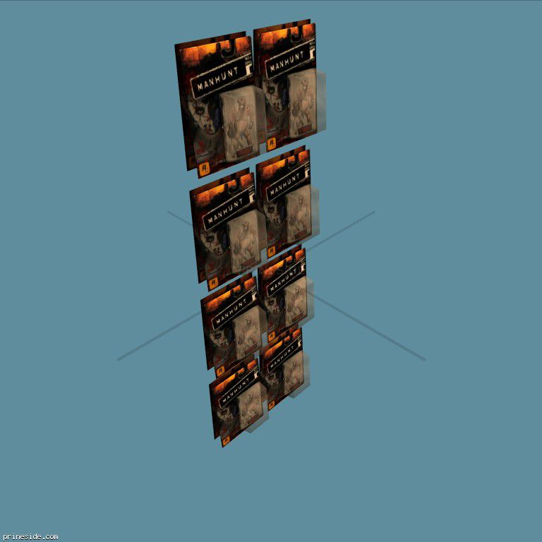 Стойка с игрушками Manhunt (MANHUNT_TOY2_2) [2494] на темном фоне