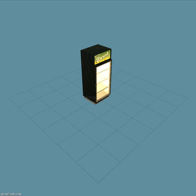 Пустой холодильник для напитков (CJ_OFF2_LIC_1_M) [2531] на темном фоне