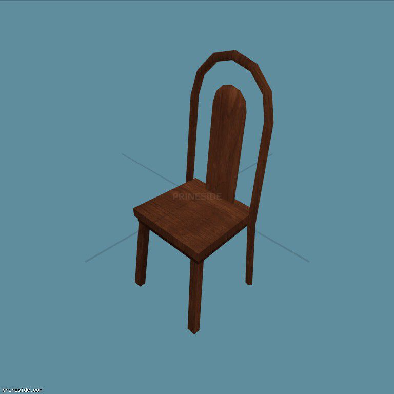 Wooden chair (CJ_PIZZA_CHAIR) [2636] on the dark background