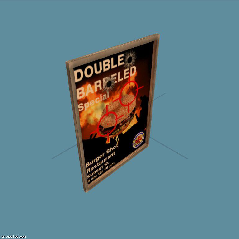 Poster Shot Double Barreled Burger (CJ_BURGER_POSTER) [2641] on the dark background