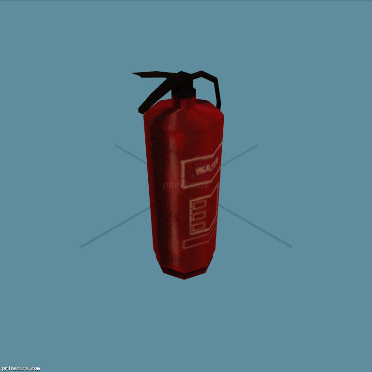 The fire extinguisher (CJ_FIRE_EXT) [2690] on the dark background