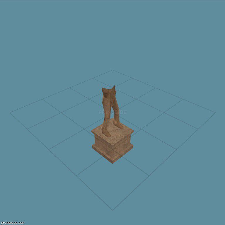 Нижняя часть серой статуи (CJ_STAT_1) [2743] на темном фоне