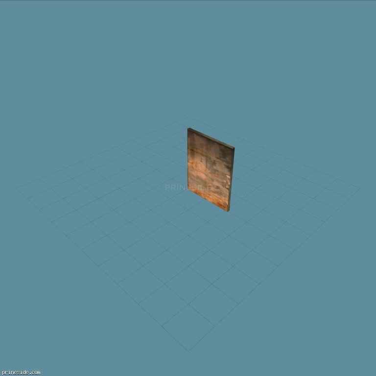 Rusty metal door (kmb_gimpdoor) [2952] on the dark background