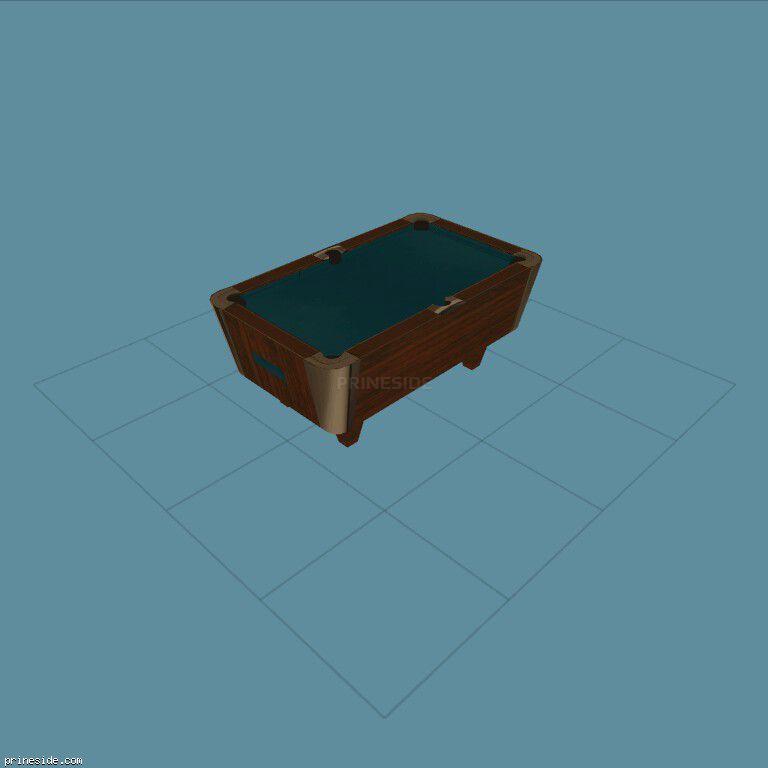 Бильярдный стол (k_pooltablesm) [2964] на темном фоне