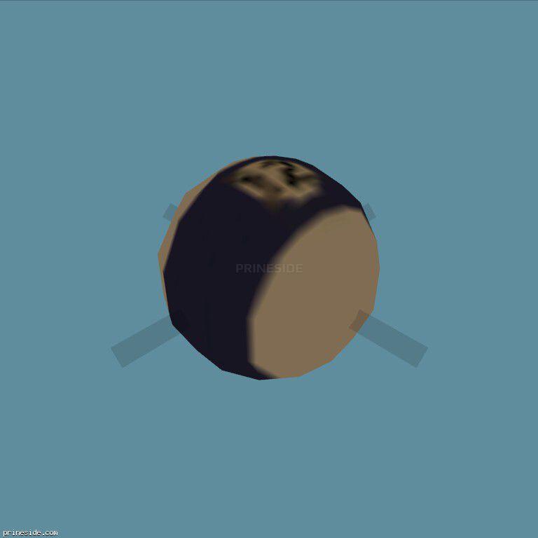Бильярдный шар с фиолетовой полосой и номером 12 (k_poolballstp04) [2998] на темном фоне