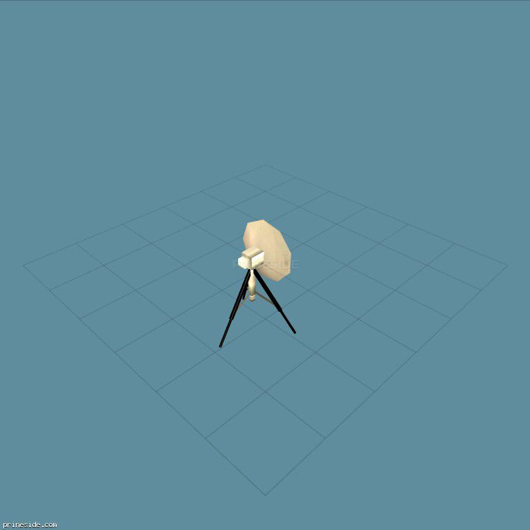 Field satellite dish on a tripod (wong_dish) [3031] on the dark background