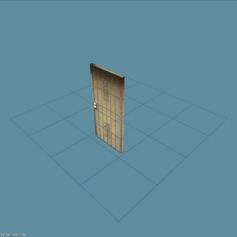Входная белая дверь с решеткой (ad_flatdoor) [3061] на темном фоне