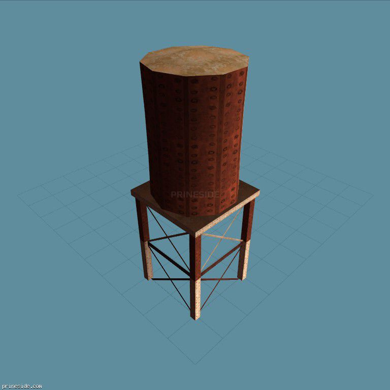 Rusty water tower (cxrf_watertwr) [3286] on the dark background