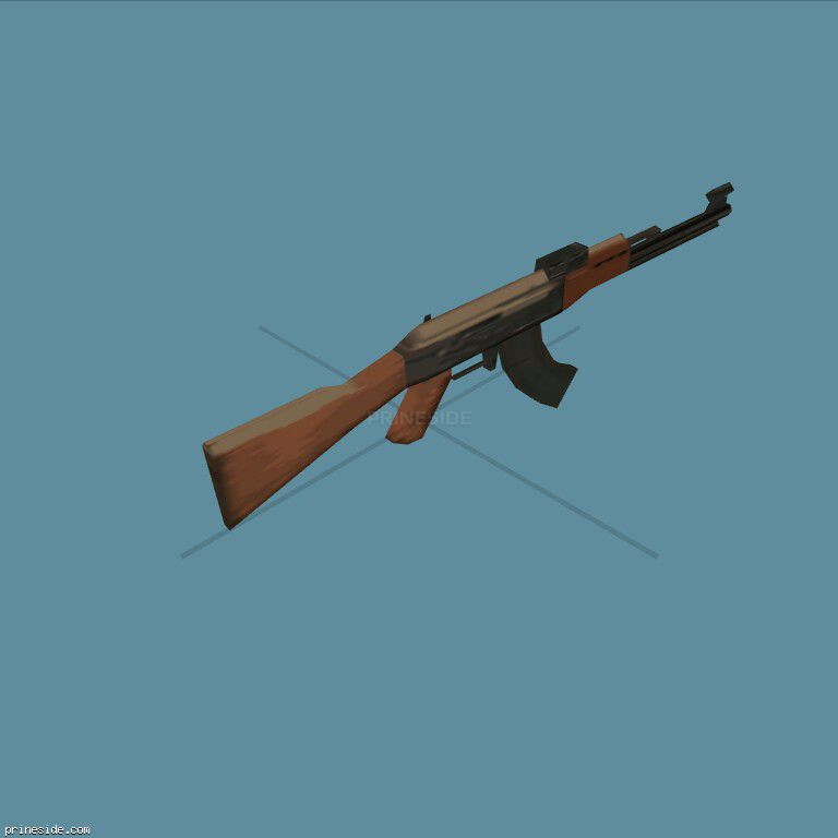 7.62 mm Kalashnikov assault rifle AK-47 (ak47) [355] on the dark background