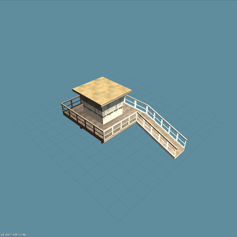 Beach house for rescuers (sanmonbhut1_LAW2) [3615] on the dark background