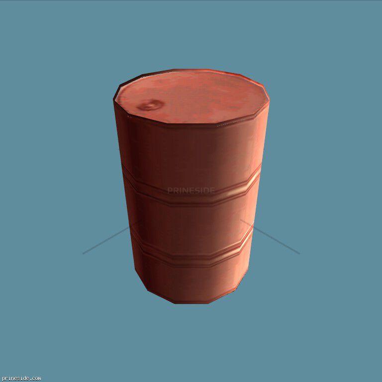 Orange barrel (imoildrum_LAS) [3632] on the dark background