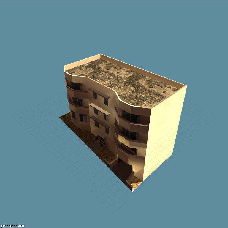 Four-storey house with garage  (BeachApartA1_LAx) [3653] on the dark background