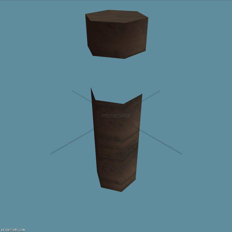 Красный фонарный столб небольшого размера (airuntest_las) [3666] на темном фоне