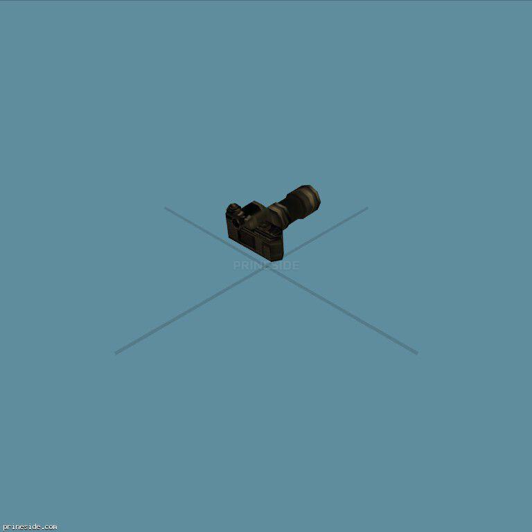 Черный фотоаппарат с объективом (camera) [367] на темном фоне