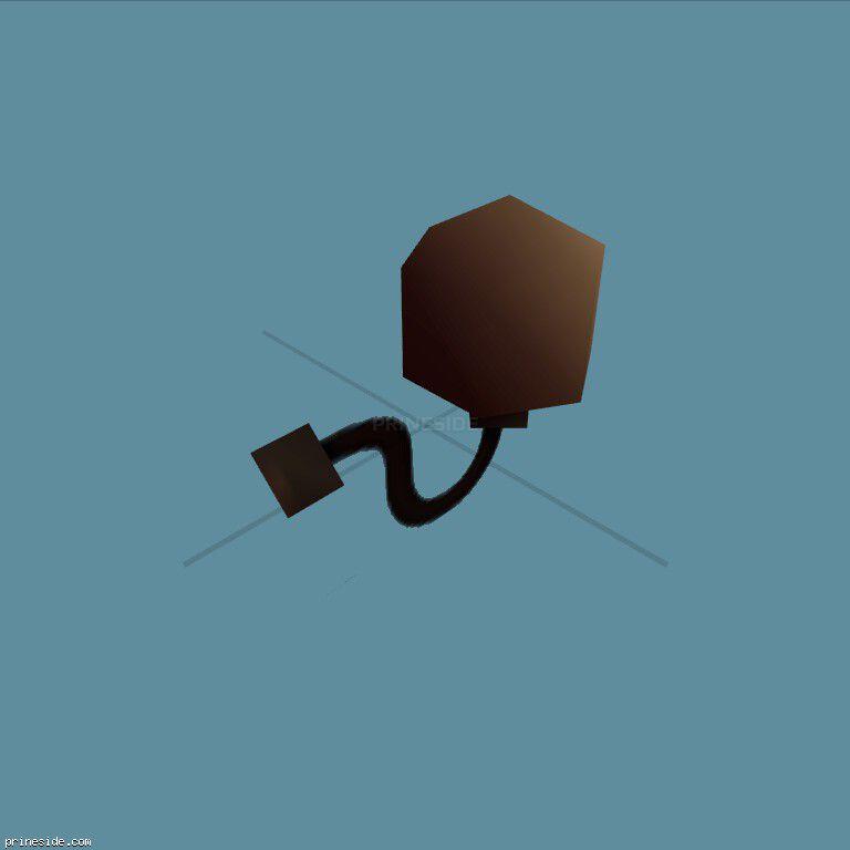 Маленькая настенная лампа (sfx_lite04) [3801] на темном фоне