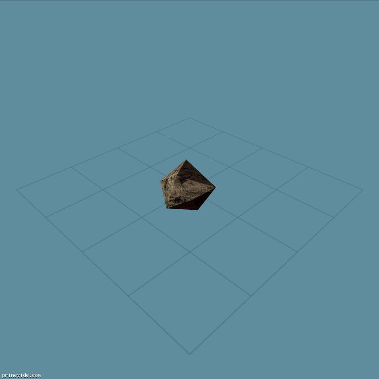 Small low-poly stone (d_rock01) [3930] on the dark background